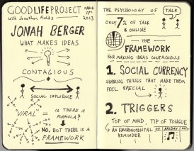 Good Life Project Sketchnotes - Jonah Berger